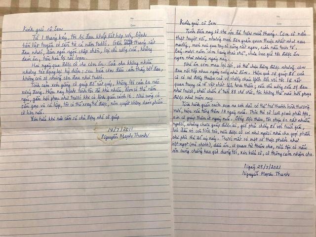 Được hàng xóm giúp đỡ lúc bệnh tật khốn khó, cụ ông viết bức thư tay đầy cảm động: Tình xóm giềng cô giúp đỡ rất quý, không lời cảm ơn nào xứng đáng - Ảnh 1.