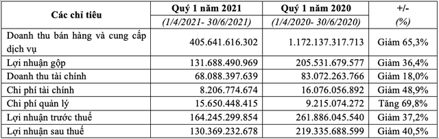 TCH: Đạt lợi nhuận 130 tỷ đồng trong quý đầu tiên của năm tài chính 2021 - Ảnh 1.