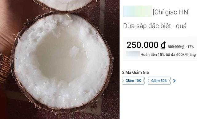 Sự thật quả dừa giá 300.000 đồng, đắt gấp 20 lần hàng chợ mà nhà giàu Việt đổ tiền mua - Ảnh 1.