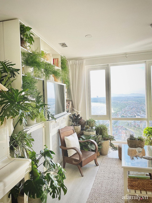 Rừng cây xanh mát trong căn hộ có view sông Hồng đắt giá của cô gái trẻ ở Hà Nội - Ảnh 20.