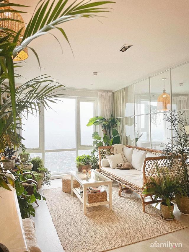 Rừng cây xanh mát trong căn hộ có view sông Hồng đắt giá của cô gái trẻ ở Hà Nội - Ảnh 21.