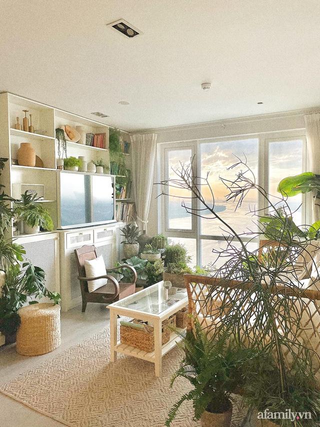 Rừng cây xanh mát trong căn hộ có view sông Hồng đắt giá của cô gái trẻ ở Hà Nội - Ảnh 8.