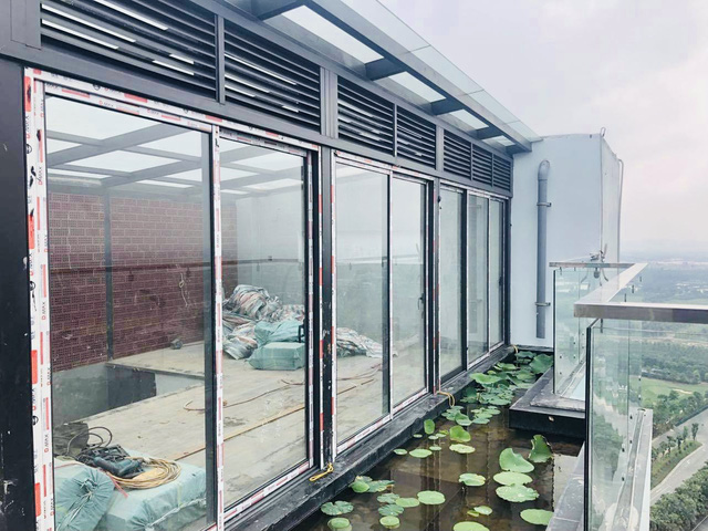 Hồ sen trên tầng 30 của penthouse 300m2: Anh chồng lần đầu giải đáp chuyện chống thấm, tiết lộ có hoa thơm cho vợ sống ảo lại còn thêm cua đồng để nấu canh - Ảnh 4.