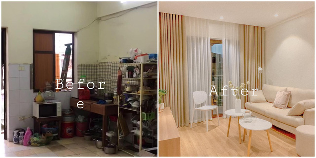 Vợ chồng trẻ cải tạo A - Z chung cư cũ thành căn hộ trang nhã đi đâu cũng muốn về với mức giá 350 triệu cho cả đồ điện tử: Gia đình nhỏ nên tham khảo vì quá hợp lý! - Ảnh 3.