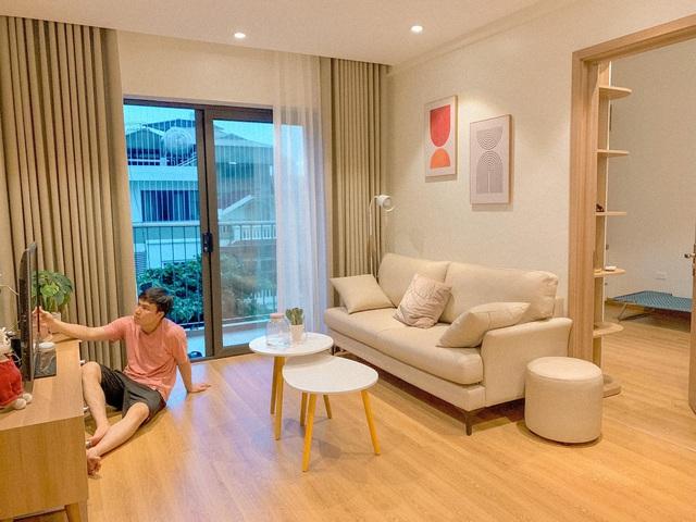 Vợ chồng trẻ cải tạo A - Z chung cư cũ thành căn hộ trang nhã đi đâu cũng muốn về với mức giá 350 triệu cho cả đồ điện tử: Gia đình nhỏ nên tham khảo vì quá hợp lý! - Ảnh 4.