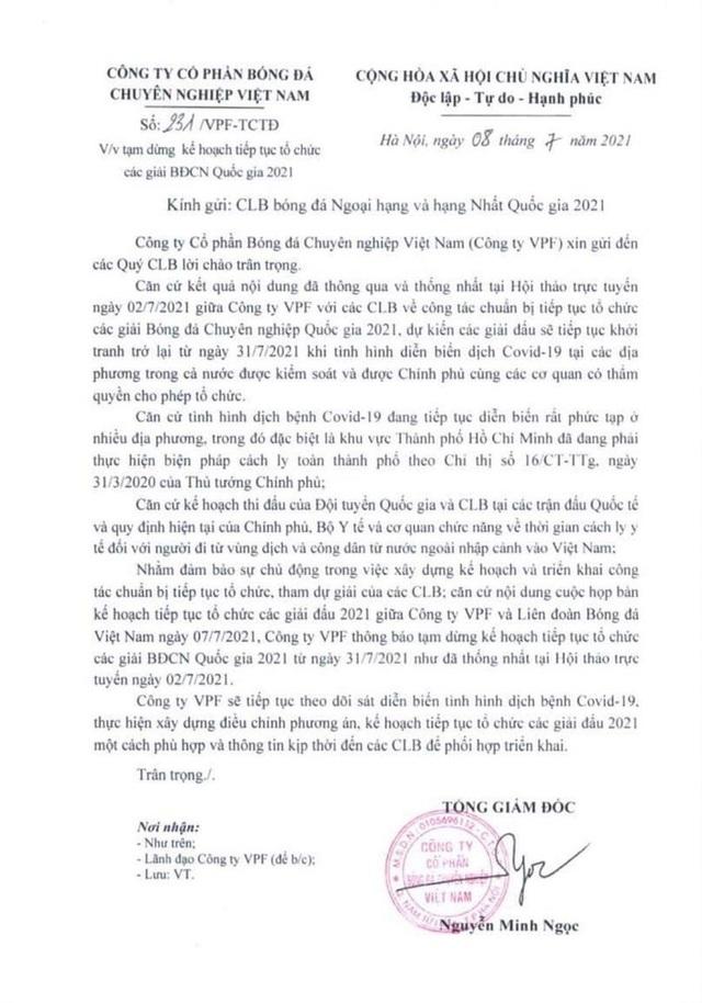 NÓNG: V.League bất ngờ có biến, kế hoạch vòng loại World Cup của ĐT Việt Nam bị ảnh hưởng - Ảnh 1.