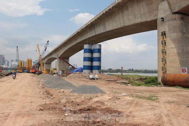 Hiện trạng cầu Vĩnh Tuy 2 sau 6 tháng khởi công - Ảnh 11.