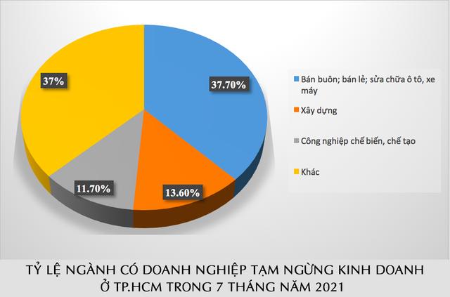 Hơn 29% doanh nghiệp rút lui khỏi thị trường trong 7 tháng đầu năm là ở TP.HCM - Ảnh 2.