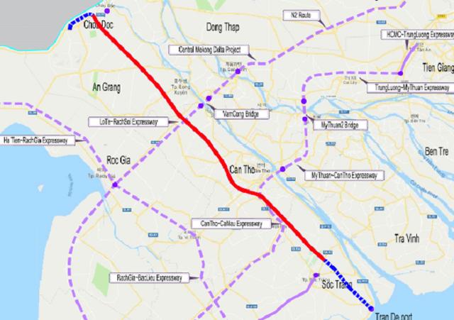 Đề xuất đầu tư hơn 47.400 tỷ đồng làm cao tốc từ An Giang đi Sóc Trăng - Ảnh 1.