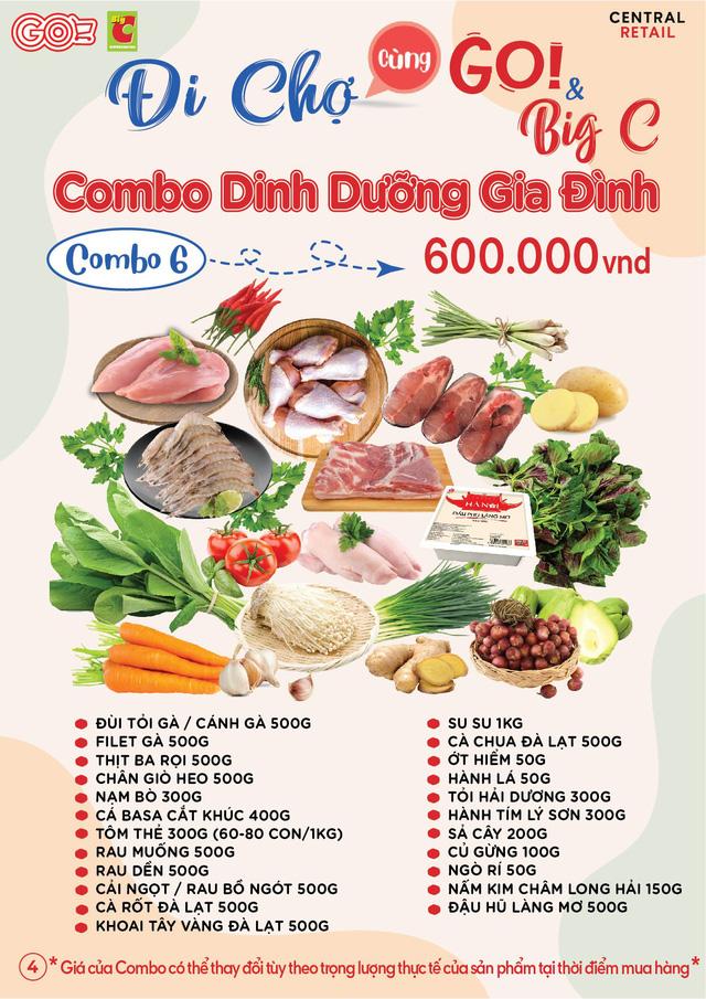 BigC, AEON chuyển sang bán 'combo' rau củ, thịt cá, mỹ phẩm… giá từ vài chục nghìn đến cả triệu đồng khi Tp.HCM tăng cường giãn cách - Ảnh 1.