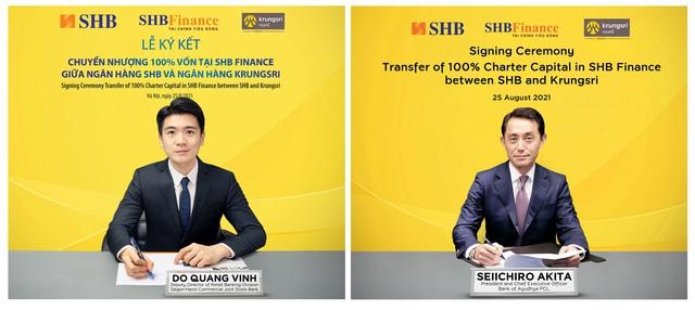 SHB sẽ chuyển nhượng 100% vốn tại công ty tài chính SHB Finance cho Krungsri của Thái Lan - Ảnh 1.
