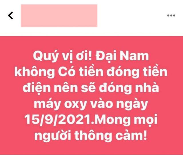 Thư ký của CEO Nguyễn Phương Hằng có phát biểu gây ngỡ ngàng: Đại Nam hết tiền đóng tiền điện nên sẽ đóng cửa nhà máy oxy? - Ảnh 1.
