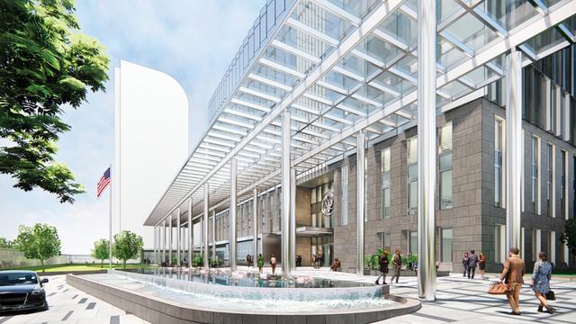 Mỹ sắp xây Đại sứ quán 1,2 tỷ USD, lấy cảm hứng từ Vịnh Hạ Long và vẻ đẹp của Hà Nội: Bên trong có gì? - Ảnh 3.
