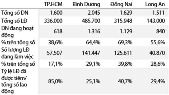 VDSC: 85% công nhân tại các khu công nghiệp và khu chế xuất tại Tp.HCM đã được tiêm vắc xin, 15% còn lại sẽ hoàn tất tiêm trước 15/9 - Ảnh 2.