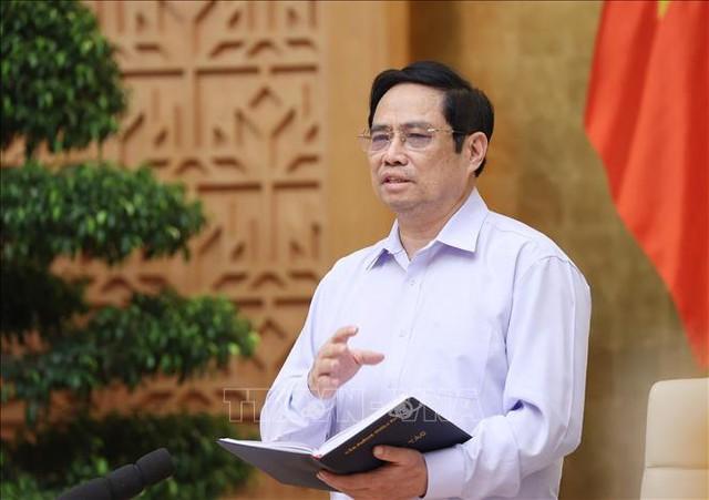 Thủ tướng Phạm Minh Chính: Đã hy sinh kinh tế, thực hiện giãn cách xã hội thì phải sớm đạt mục tiêu kiềm chế dịch bệnh  - Ảnh 1.
