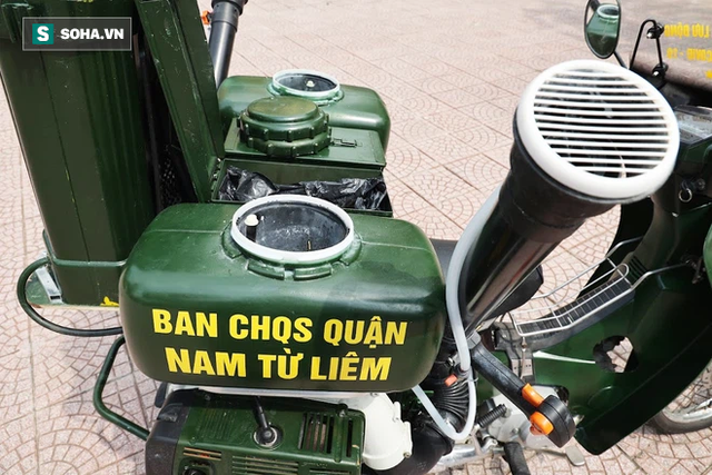 Chỉ Việt Nam mới có: Chế Honda Dream thành xe phun khử khuẩn lưu động, công suất tương đương sức 100 người - Ảnh 4.