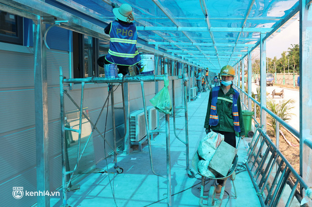 Ảnh: Cận cảnh trang thiết bị, máy móc hiện đại bên trong Bệnh viện dã chiến điều trị Covid-19 lớn nhất Hà Nội chuẩn bị đưa vào hoạt động - Ảnh 18.