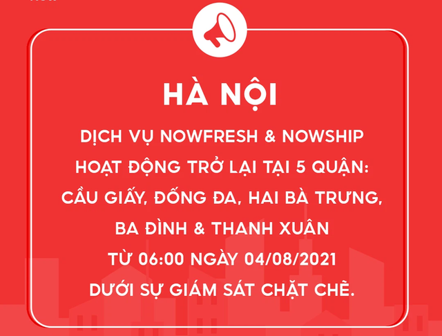 Từ hôm nay, Now hoạt động lại ở 5 quận Hà Nội, là quận nào? - Ảnh 1.