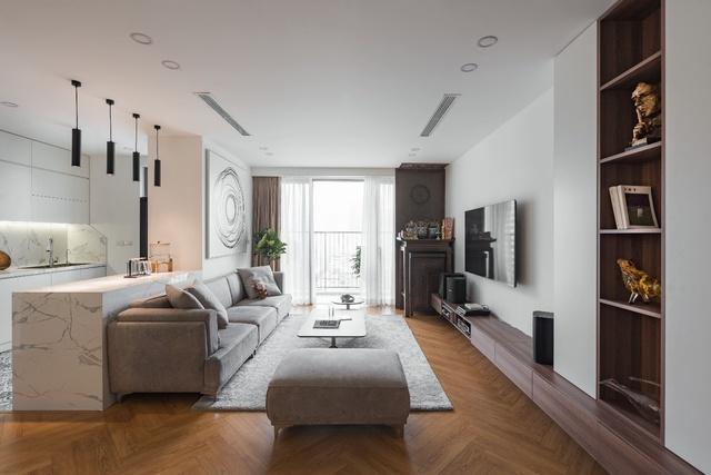 Ngắm căn hộ với gam màu nâu lạnh chất lừ của đôi vợ chồng trẻ tại Hà Nội - Ảnh 3.