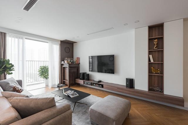 Ngắm căn hộ với gam màu nâu lạnh chất lừ của đôi vợ chồng trẻ tại Hà Nội - Ảnh 4.