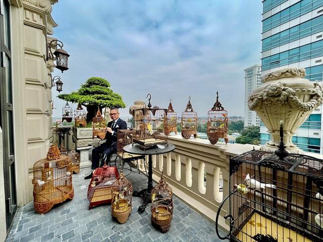 Đại gia Hà Nội xây biệt thự 9 tầng giữa lòng thành phố, chi 5 tỷ làm hồ cá, 10 tỷ mua chim quý - Ảnh 4.