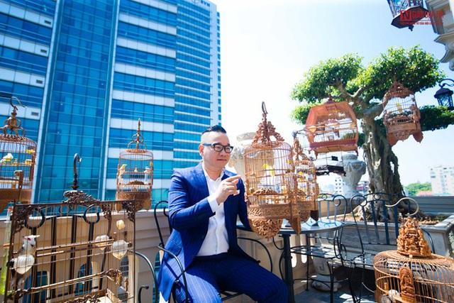 Đại gia Hà Nội xây biệt thự 9 tầng giữa lòng thành phố, chi 5 tỷ làm hồ cá, 10 tỷ mua chim quý - Ảnh 5.