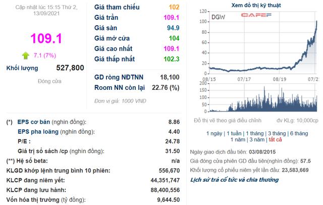 Cổ phiếu lập đỉnh mới, vốn hóa Digiworld (DGW) đạt gần 10.000 tỷ đồng - Ảnh 1.