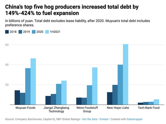 Giá thịt lợn giảm sâu để lại các nhà sản xuất hàng đầu Trung Quốc với đống nợ vay tăng gấp 3 lần  - Ảnh 1.