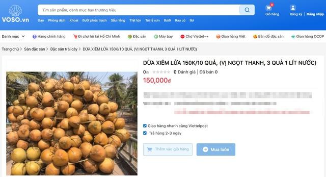 Dừa tươi duy trì mức bán cao trên chợ mạng, mỗi quả giá 25.000 đồng được chốt đơn ầm ầm - Ảnh 5.