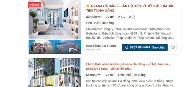 Đà Nẵng: Cảnh báo tình trạng rao bán căn hộ tại 2 dự án chưa được cấp phép kinh doanh - Ảnh 2.