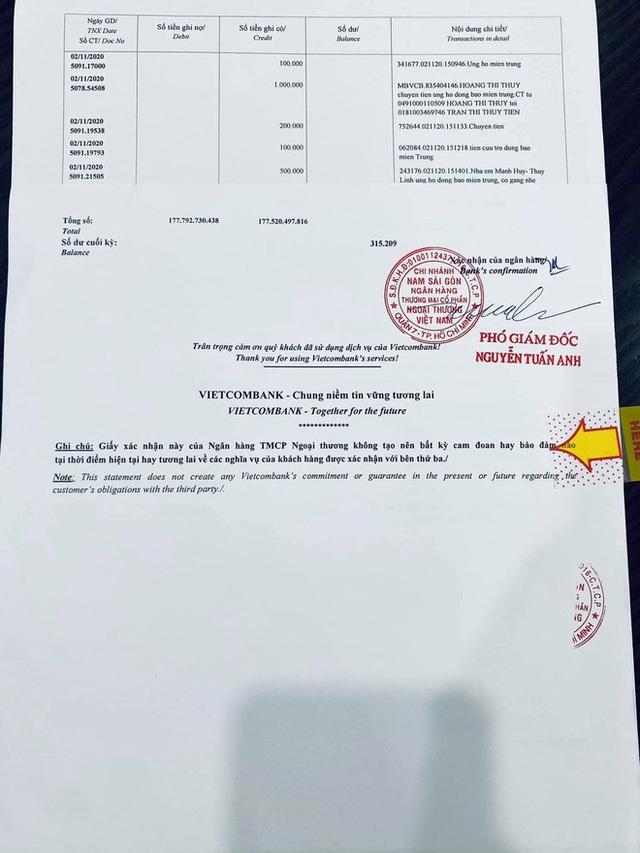 Thuỷ Tiên công bố 18.000 trang sao kê ngân hàng, làm rõ các khoản thu - chi và chốt 1 ý đặc biệt quan trọng  - Ảnh 5.