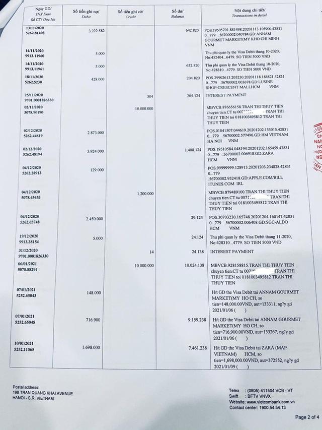 Thuỷ Tiên công bố 18.000 trang sao kê ngân hàng, làm rõ các khoản thu - chi và chốt 1 ý đặc biệt quan trọng  - Ảnh 9.