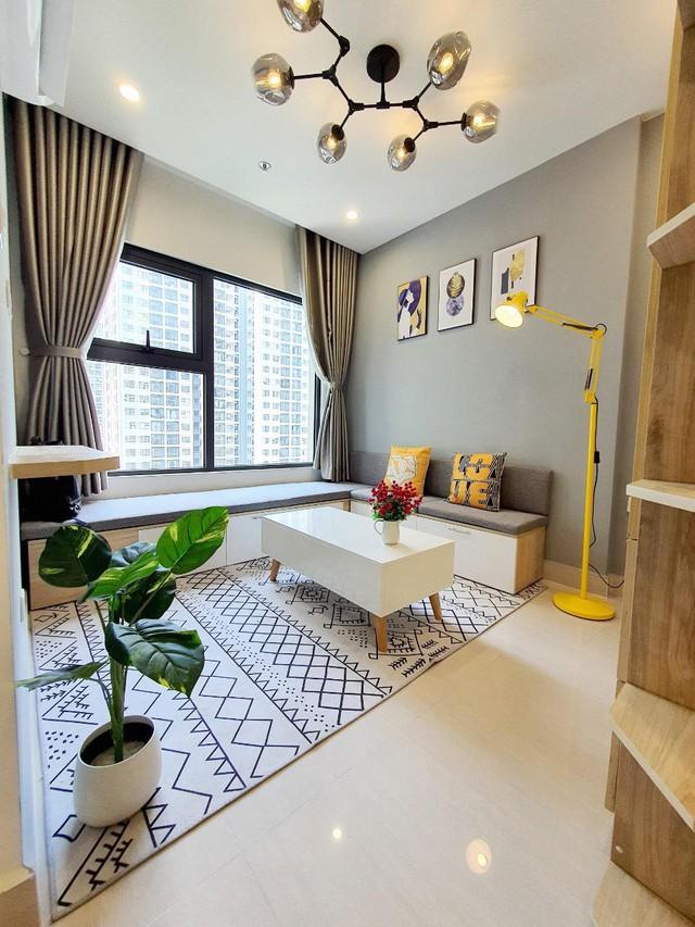 Chàng trai độc thân ở thuê vẫn chi 50 triệu tự decor nhà đẹp mê, biến không gian sống 28m2 trở nên rộng rãi, tiện nghi đầy ấn tượng - Ảnh 3.