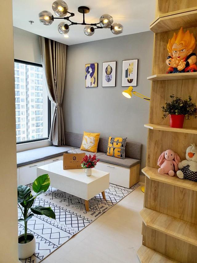 Chàng trai độc thân ở thuê vẫn chi 50 triệu tự decor nhà đẹp mê, biến không gian sống 28m2 trở nên rộng rãi, tiện nghi đầy ấn tượng - Ảnh 4.