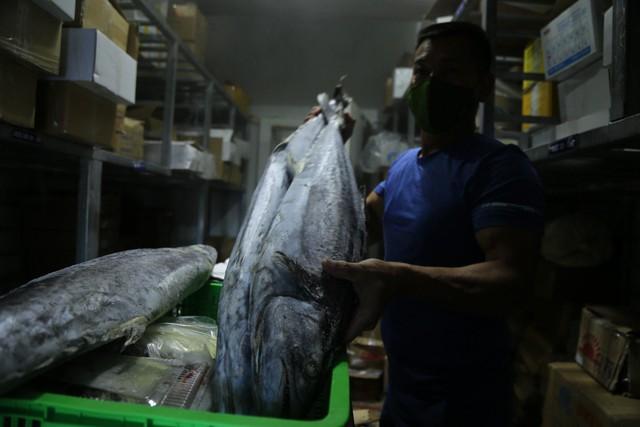 Hàng ngàn tấn hải sản nằm kho lạnh vì dịch, chủ hàng lo phá sản vì phải bù lỗ tiền điện - Ảnh 5.