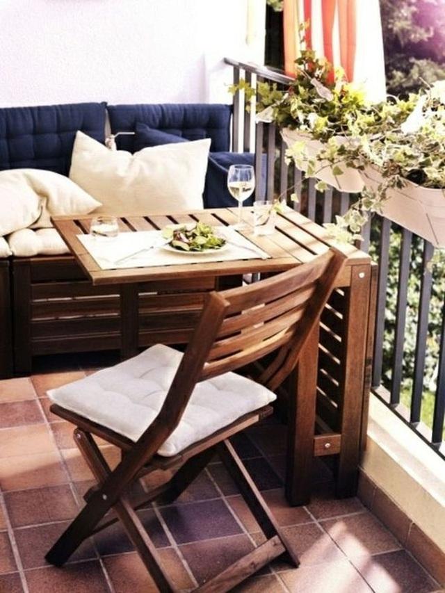 10 cách thiết kế đỉnh cao khi ban công cực nhỏ vẫn bố trí được bàn ăn và ghế - Ảnh 4.