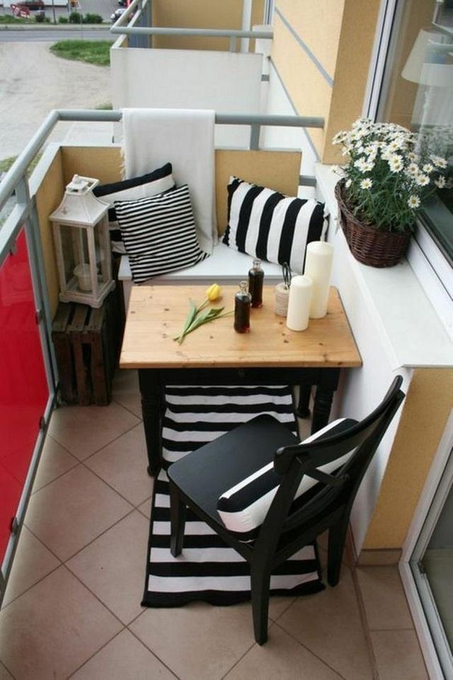 10 cách thiết kế đỉnh cao khi ban công cực nhỏ vẫn bố trí được bàn ăn và ghế - Ảnh 5.