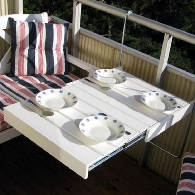10 cách thiết kế đỉnh cao khi ban công cực nhỏ vẫn bố trí được bàn ăn và ghế - Ảnh 10.