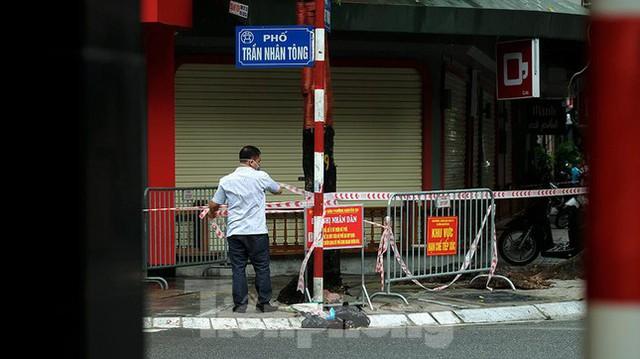 Phát hiện ca mắc mới, Hà Nội phong tỏa một đoạn phố Trần Nhân Tông - Ảnh 2.
