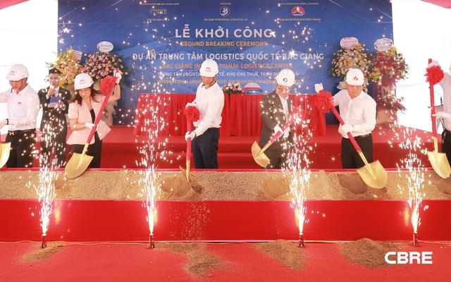 Bắc Giang khởi công trung tâm Logistics quốc tế quy mô 71ha - Ảnh 1.