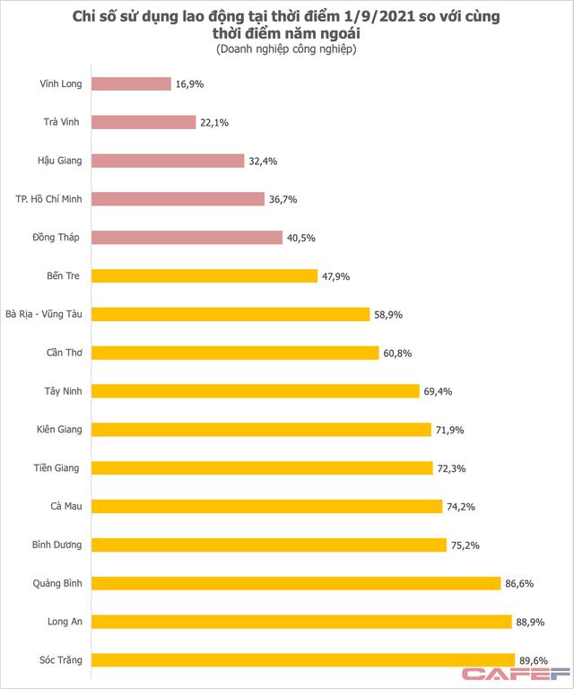 Chỉ số sử dụng lao động của khu vực phía Nam thấp kỷ lục, gần 2/3 số công nhân tại TP HCM tạm thời chưa có việc - Ảnh 1.
