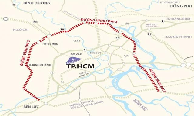 Vành đai 3 TP.HCM chờ phản hồi từ Bình Dương và Đồng Nai - Ảnh 1.