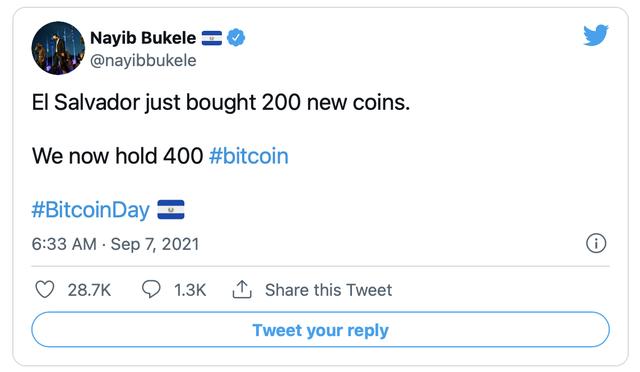 Quốc gia duy nhất trên thế giới chính thức hợp pháp hoá Bitcoin vừa chi 21 triệu USD mua những đồng tiền số đầu tiên  - Ảnh 1.