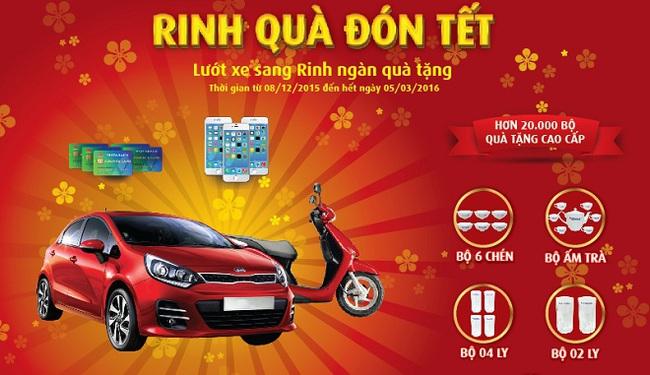 VietABank tặng quà Tết cho khách hàng cá nhân gửi tiết kiệm