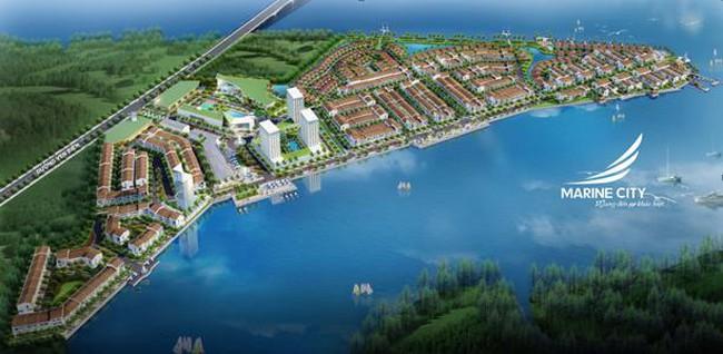 Marine City -khuđô thịphố biển an cư và nghỉ dưỡngtại Vũng Tàu