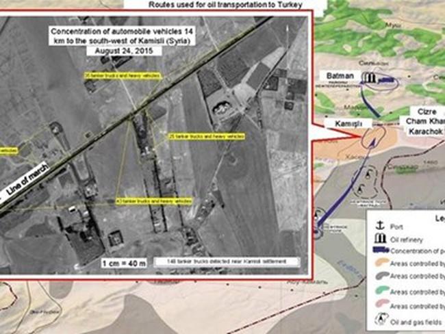 Bộ Quốc phòng Nga cáo buộc Mỹ bao che IS bán dầu cho Thổ Nhĩ Kỳ