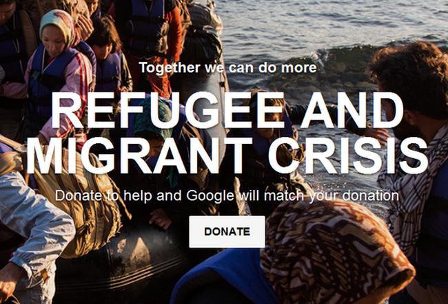 Google mở chiến dịch gây quỹ 11 triệu USD cho người di cư