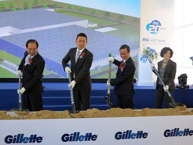 P&G công bố đầu tư 100 triệu USD xây nhà máy Gillettle tại Bình Dương
