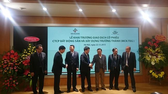 Cổ phiếu Công ty BĐS và Xây dựng Trường Thành giao dịch trên HNX