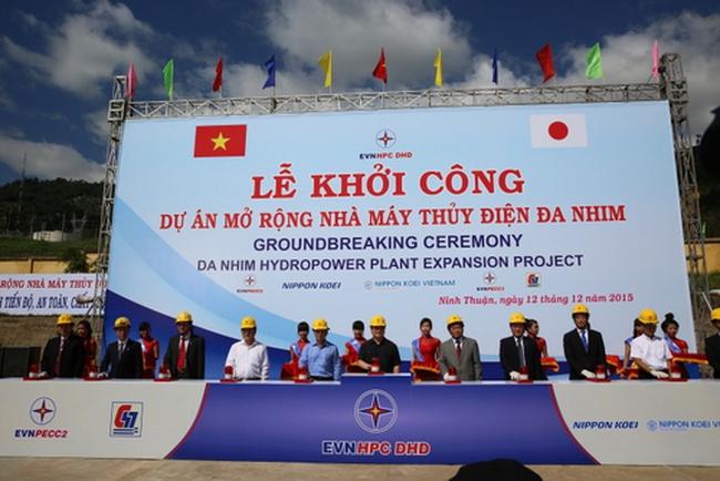 Khởi công dự án thủy điện Đa Nhim mở rộng